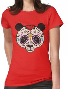 Colorful Panda Face T shirts Womens Fitted T-Shirt