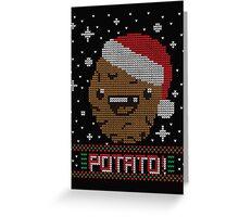 UGLY POTATO CHRISTMAS SWEATER ERMAHGERD!! Greeting Card