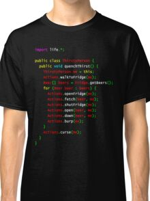 Beer Java Code for Thirsty Geeks Nerds Programmers Classic T-Shirt
