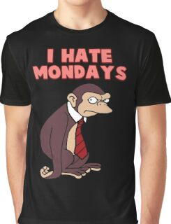Monday Monkey Lives For The Weekend, Sir. Graphic T-Shirt