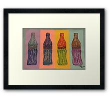 Coca Cola pastel Framed Print