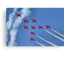 The Red Arrows - Eagle Roll - Farnborough 2014 Canvas Print