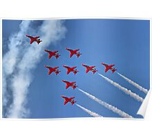 The Red Arrows - Eagle Roll - Farnborough 2014 Poster