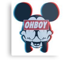 Stereoscopic ohboy Metal Print