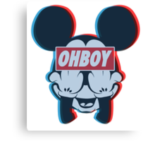 Stereoscopic ohboy Canvas Print