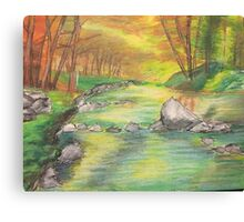 Peaceful River Scene Canvas Print