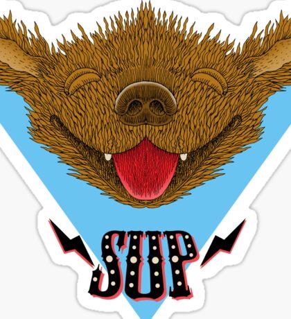 Sup Pup Happy Dog Sticker