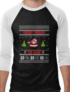 "Dabbin' Through The Snow ""Ugly Christmas Sweater"" Men's Baseball ¾ T-Shirt"