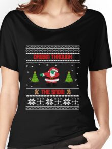 "Dabbin' Through The Snow ""Ugly Christmas Sweater"" Women's Relaxed Fit T-Shirt"