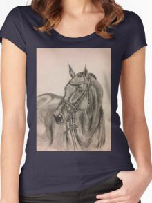 Bridled Horse Women's Fitted Scoop T-Shirt