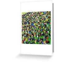 Race Meeting by Neil McBride Greeting Card