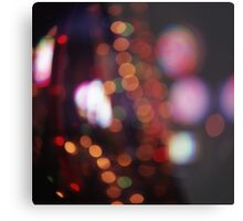 Red purple abstract photo of bokeh lights square Hasselblad 6x6 medium format film analogue photograph Metal Print
