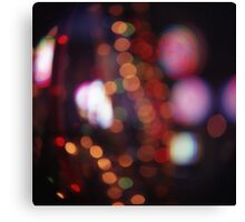 Red purple abstract photo of bokeh lights square Hasselblad 6x6 medium format film analogue photograph Canvas Print
