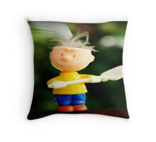 Feather Head Throw Pillow