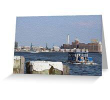 Baltimore waterfront Greeting Card