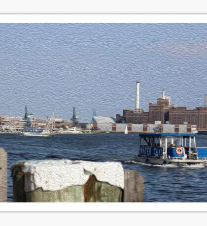 Baltimore waterfront Sticker