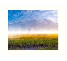Foggy Morning On The Coastal Marshes of Georgia Art Print
