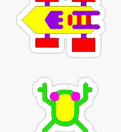 Arcade Love - Frogger Sticker