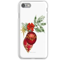 Red & Gold Ornaments iPhone Case/Skin