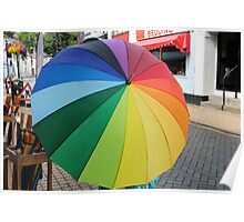 Rainbow in a Brolly Poster