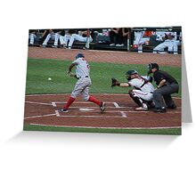 Orioles and Redsox Greeting Card