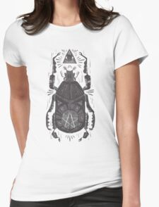 All Seeing Eye - Beetle One - grey Womens Fitted T-Shirt