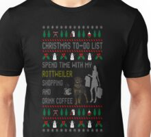 Spend Time My Rottweiler Shopping Christmas Ugly T-Shirt Unisex T-Shirt