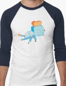 Toast in the Shell Men's Baseball ¾ T-Shirt