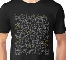 Halloween Black cats and moon Unisex T-Shirt