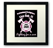 Firefighters fighting for a cure Framed Print
