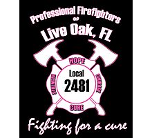 Firefighters fighting for a cure Photographic Print