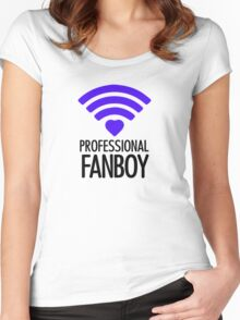Professional Fanboy - T Women's Fitted Scoop T-Shirt