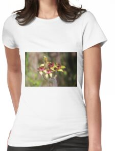 Dancing Spider Orchid, Caladenia discoidea Womens Fitted T-Shirt