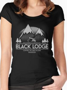 Black lodge 2 Women's Fitted Scoop T-Shirt