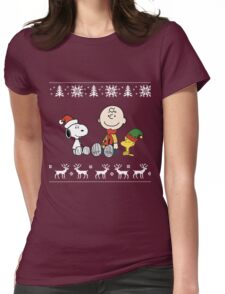 Charlie Brown Christmas Womens Fitted T-Shirt