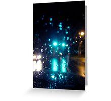 Green Light At Night (Celebration) Greeting Card