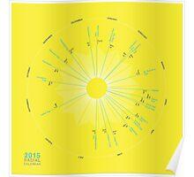 2015 Radial Calendar Poster