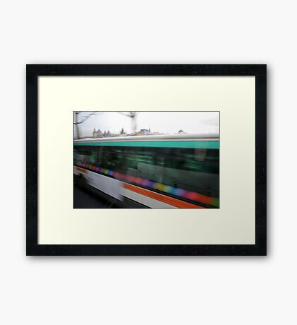 Paris by Bus - buses Framed Print