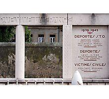 War memorial #2  Photographic Print