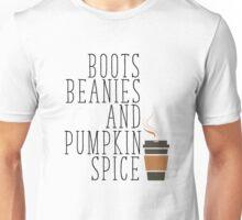 Winter - Boots Beanies and Pumpkin Spice Unisex T-Shirt