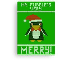 Mr Flibble's Very Merry! Ugly Sweater Canvas Print