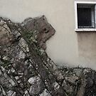 Rock makes house by Pascale Baud