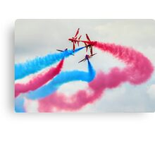 The Red Arrows Gypo Break 2 - Dunsfold 2014 Canvas Print