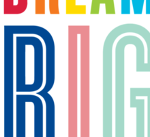DREAM BIG QUOTE modern typography bright colors Sticker