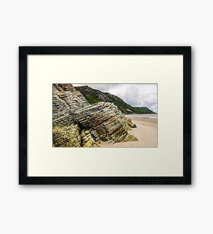 Rocks of Maghera Beach - Ireland #2 Framed Print