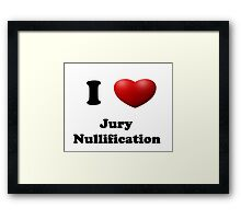 Get out of Jury Duty! Framed Print
