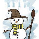 Hufflepuff Christmas Card by Jess Nixon