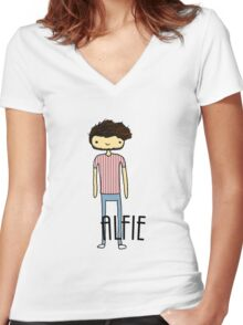 Alfie Deyes- The Pointless One Women's Fitted V-Neck T-Shirt