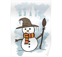 Gryffindor Christmas Card  Poster