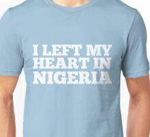 I Left My Heart In Nigeria Love Native Homesick T-Shirt Unisex T-Shirt